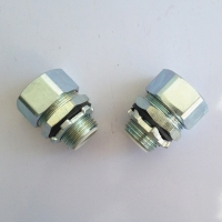 Quality LIQUID TIGHT IP68 WHITE ZINC GALVANIZED STEEL 45 CONNECTOR for sale