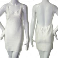 Quality Extreme sexy spaghetti strap backless simple white short bodycon bandage dress for sale