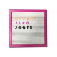 Quality Pink Frame Felt Letter Board Customized Size With DIY Changeable Letters for sale