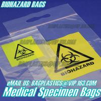 Quality Biodegradable Material LDPE Biohazard Specimen Bag with Zipper, opaque Specimen biohazard zipper bags, lab specimen zipp for sale