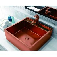 Quality Rose Gold Black 316 Stainless Steel Sink  For Bathroom Nano Oil Resistance for sale