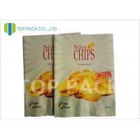 Quality Matte Surface Laminated Foil Pouches Back Seal Potato Chips Packaging for sale