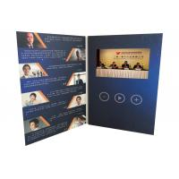 Quality Innovative  communication solutions 4.3inch tft screen paper  custom printed video brochure video greeting  card for sale