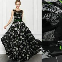 China silk fabric dandelion printed Silk chiffon fabric nature silk fabric on sale