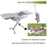 Quality trolly charcoal barbecue grill for sale