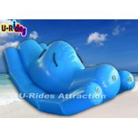 Quality Blue Funny Single Inflatable Water Games Totter For Adult And Kids 3.6m×1.2m for sale