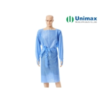 Quality CE FDA Surgical Robe SMS Disposable Isolation Gowns With Thumb Hole for sale