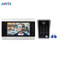 Quality Video Door Phone Intercom For Home IR Night Vision Device 7 Inch video doorbell with IP65 Waterproof for sale