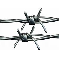 China Single / Double Twisted Galvanized Barbed Wire 12 * 12 Type For Safety Protection on sale