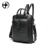 Quality 2019 latest product custom high quality unisex leather sling backpack with handle shaped soft tote backpack men leather for sale
