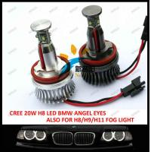 China 20W CREE LED Angel Eyes for All H8 BMW E87 E92 E93 E70 E60 on sale