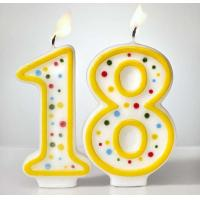 Buy Custom Arabic Number Birthday Candles 1 To 18 With Colorful Dot No Harmful at wholesale prices