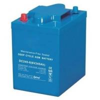 Quality 245Ah VRLA AGM Battery , 6 Volt Deep Cycle Battery For EV Golf / Utility Vehicle for sale