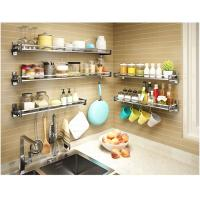 Quality Multi Function Wall Shelves For Kitchen Storage , Seasoning Kitchen Wall Hanging Rack for sale