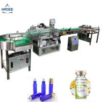 China Cosmetics PLC Automatic Sticker Labeling Machine For Alcohol Whisky Bottle Wrap on sale
