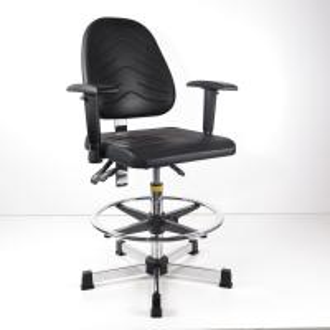 Buy Durable Ergonomic Task Stool Polyurethane Foam Seat / Back Tilt Adjustment at wholesale prices