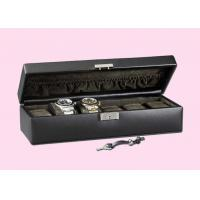 Quality Black Red Glossy Painting Personalized Wooden Watch Box With Metallic Lock for sale