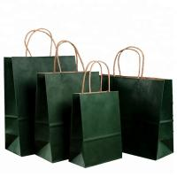 China Roller Printing Medium Paper Bags With Handles / Kraft Paper Bags Machine Made on sale