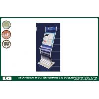 Quality Customized retail store magazine newspaper rack and postcard rack display printed logo for sale
