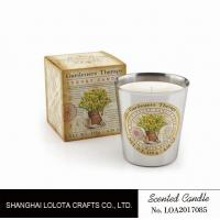 Buy Beautiful Smelling Home Scents Candles , Aromatherapy Soy Candles Amber Fragrance at wholesale prices