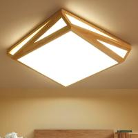 Quality Wood flush mount ceiling light For Indoor home Lighting Fixtures (WH-WA-02) for sale