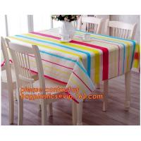 Quality Table cloth PVC non-woven cloth waterproof cloth mat oil proof plastic tablecloth table clothdigital printed printed pvc for sale