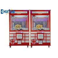 Quality Attractive Toy Arcade Claw Machine Metal Plastic Material One Button Operation for sale