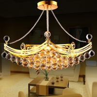 Quality Gold Chorm Dining room Kitchen Glass Ball Chandelier Pendant Lights Fixtures (WH-MI-76) for sale