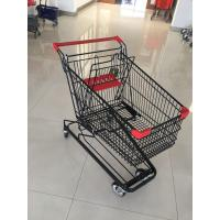 Quality 125 L Supermarket Shopping Trolley With 4 Swivel Flat Casters , 941 X 562 X 1001mm for sale