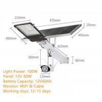 Quality Solar LED Street Light DC 12V With Monitor for sale
