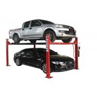 Quality Durable Four Post Vehicle Lift High Adaper With Hydraulic Jack Runway Width 475mm for sale