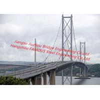 Quality Concrete Deck Steel Truss Suspension Bridge Cable-Stayed Bridge With Rock Anchor For Pedestrians And Vehicle Dual Use for sale