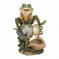 China Polyresin Garden Animal, Visual Garden Frogs for Amazing Decoration on sale