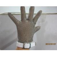 China S  Size White Chainmail Cutting Glove , Metal Mesh Safety Gloves Cut Resistant on sale