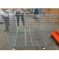 Quality Fold - Able Galvanized Welded Metal Basket Wire Storage Cage For Warehouse for sale