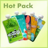 Quality Eco Friendly Disposable Baby Food Stand Up Pouch With Spout Food Grade Leak Proof for sale