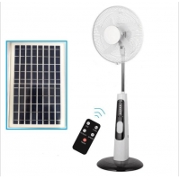 Quality Floor Stand 5Ah Battery 32 SMD Electric Pedestal Fan AC DC SAA for sale