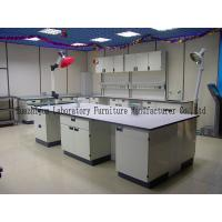 Quality Durable School Lab Benches Work Table 1.0mm Steel Cabinets With PP Handle for sale