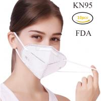 China White Color Disposable Protective Mask , KN95 Foldable Face Mask For Self Use on sale