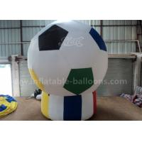 Quality Football Shaped Inflatable Advertising Air Balloons 3m For Sport Game Pvc Tarpaulin for sale