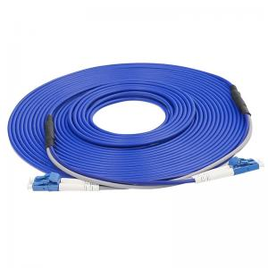 Quality 2 Core LC SC FC ST 30m Armored Fiber Optic Cable 1310nm Single Mode for sale