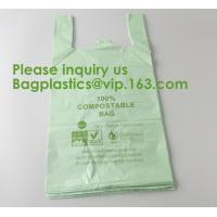 Quality Heavy Duty Compostable T-shirt Handle Tie Plastic Roll Garbage Bags Trash Bags, t shirt carry bags, bagease, bagplastics for sale