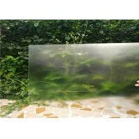 Quality 4MM Customized Sizes Low Iron Clear Glass , Solar Energy Glass 91.7% Light Transmittance for sale