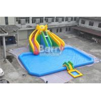 Quality Mobile Large Commercial Inflatable Water Park With Elephant Slide Design Build for sale