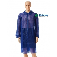 Buy cheap Blue SMS 40gsm Disposable Lab Coats With Cuffs Chemistry Lab from wholesalers