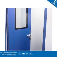 Quality Customized Laboratory Clean Room Doors Anti vapor Coating With Elbow Pull Handle for sale