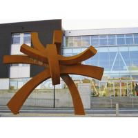 Buy Modern Large Corten Steel Sculpture For Public Garden Decoration 300cm Height  at wholesale prices