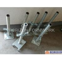 Quality Q235 Steel Scaffold Screw Jack , Scaffolding Adjustable Base Jack Painted Surface for sale