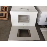China Durable Prefabricated Vanity Countertops , Absolute White Natural Quartz Vanity Top on sale