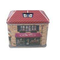 Quality House Shaped Gift Printed Tin Containers for sale
